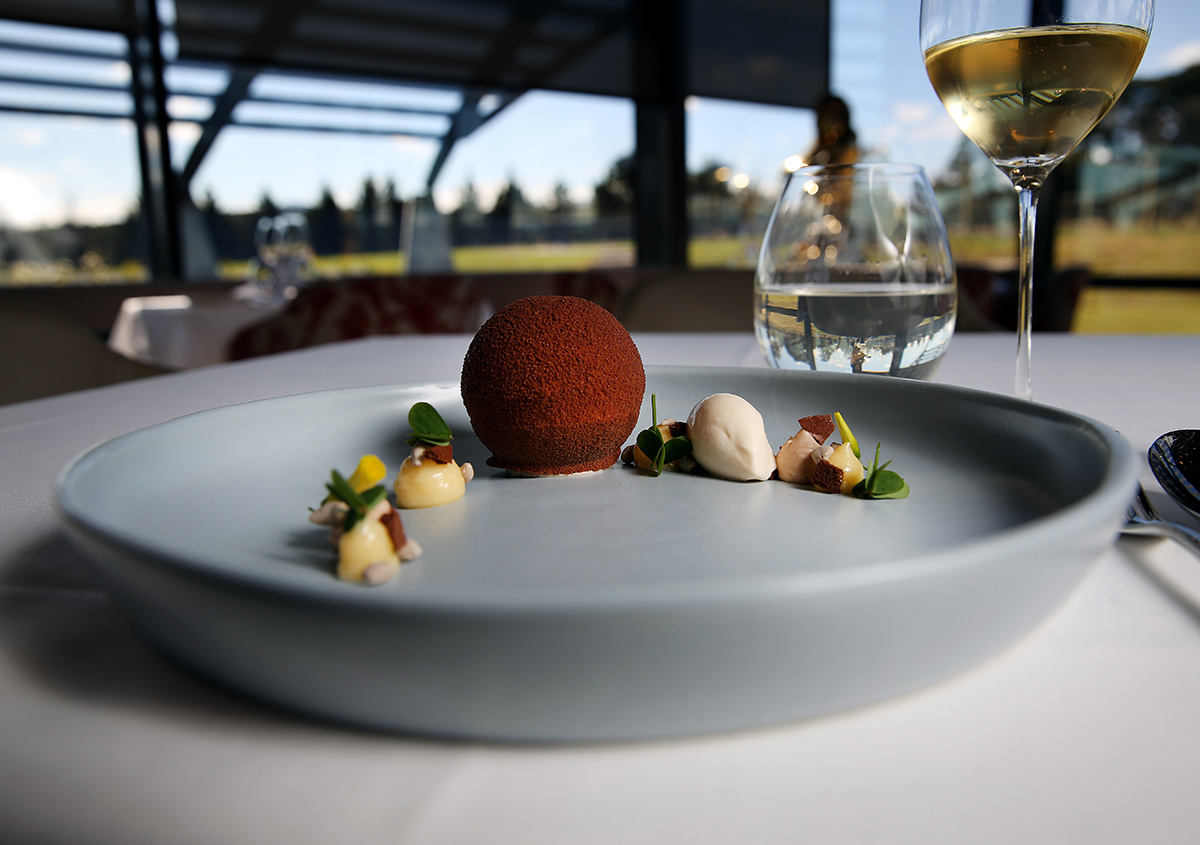 Nicole-Cleary-Photography-Ezard-Levantine-Hill-Choc-sphere-dessert